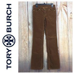 💸Tory Burch Caramel corduroy Bootcut pant size 2